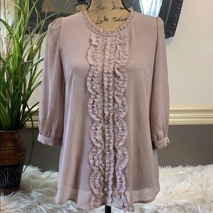Francesca's Boutique Long Sleeve Top Sz- Medium